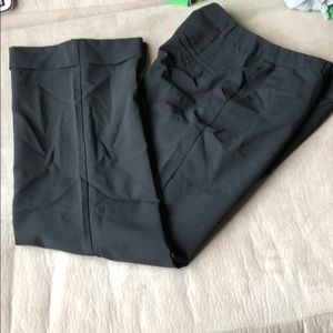 Black cuffed slacks